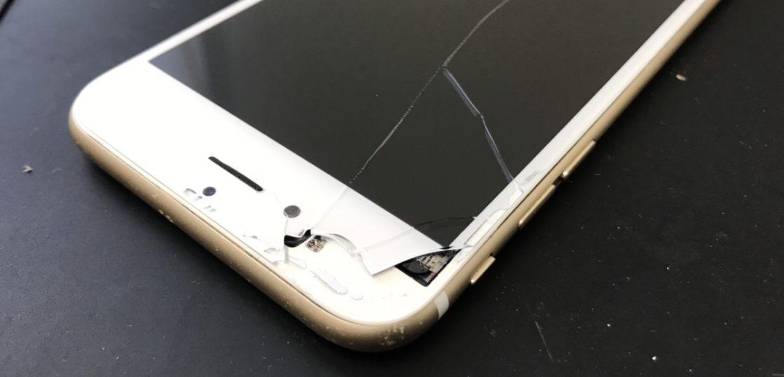 画面割れのiPhone6