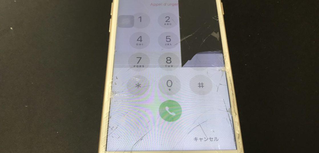 画面交換前のiPhone7