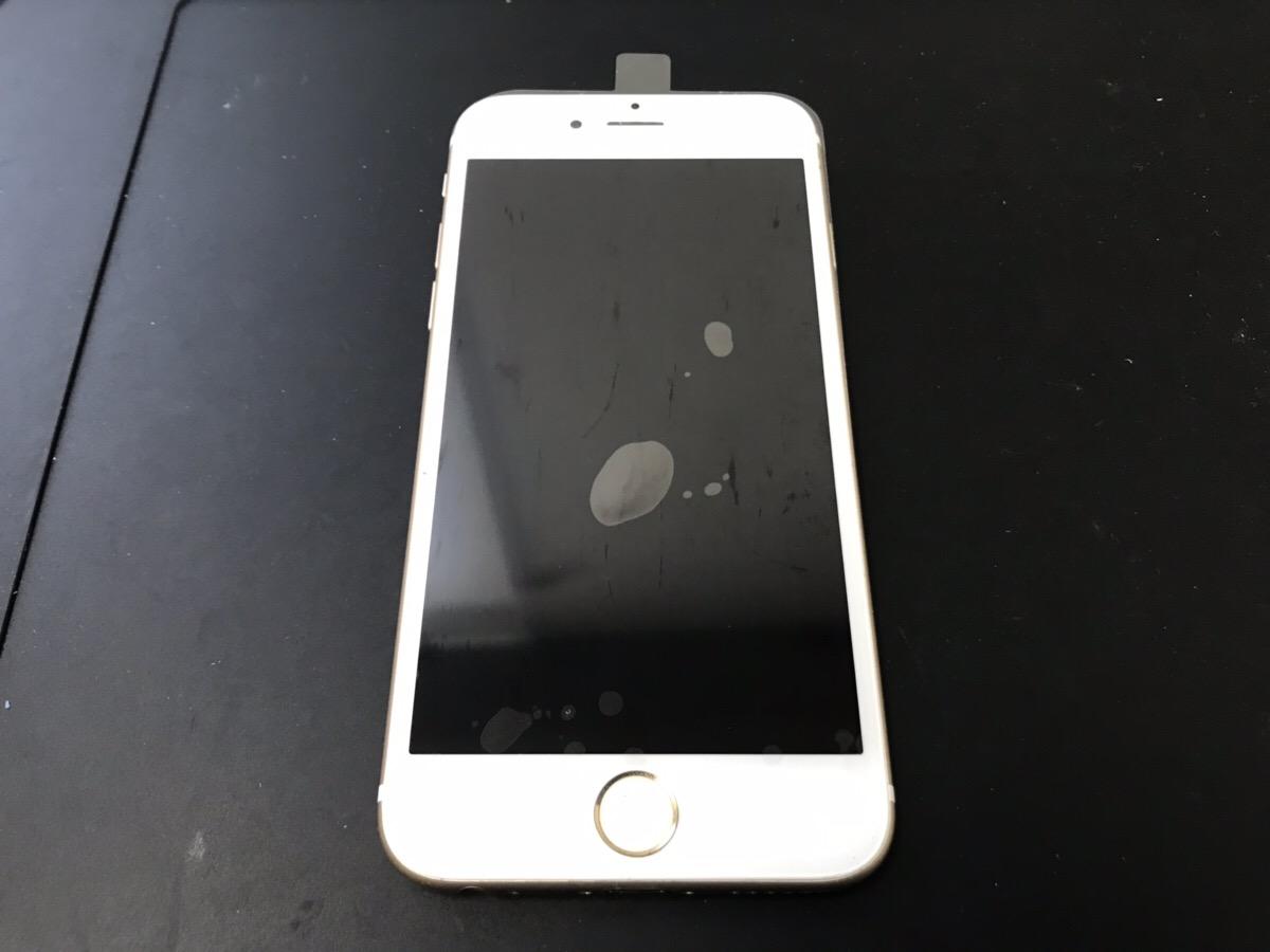 画面交換後のiPhone