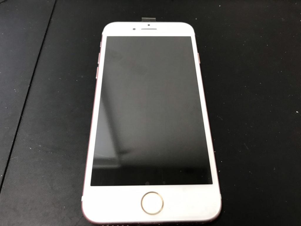 修理後のiPhone7