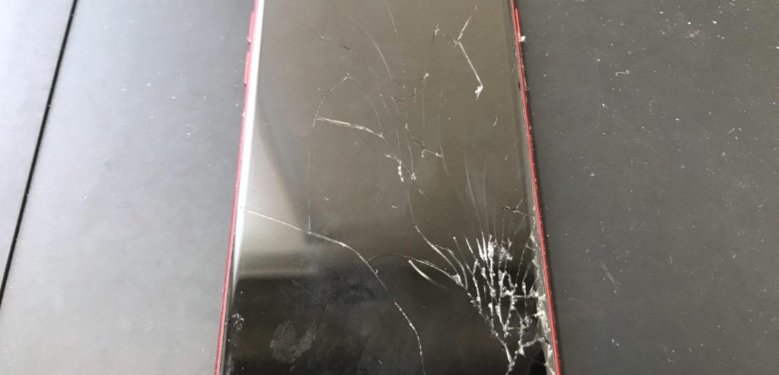 画面割れのiPhone8