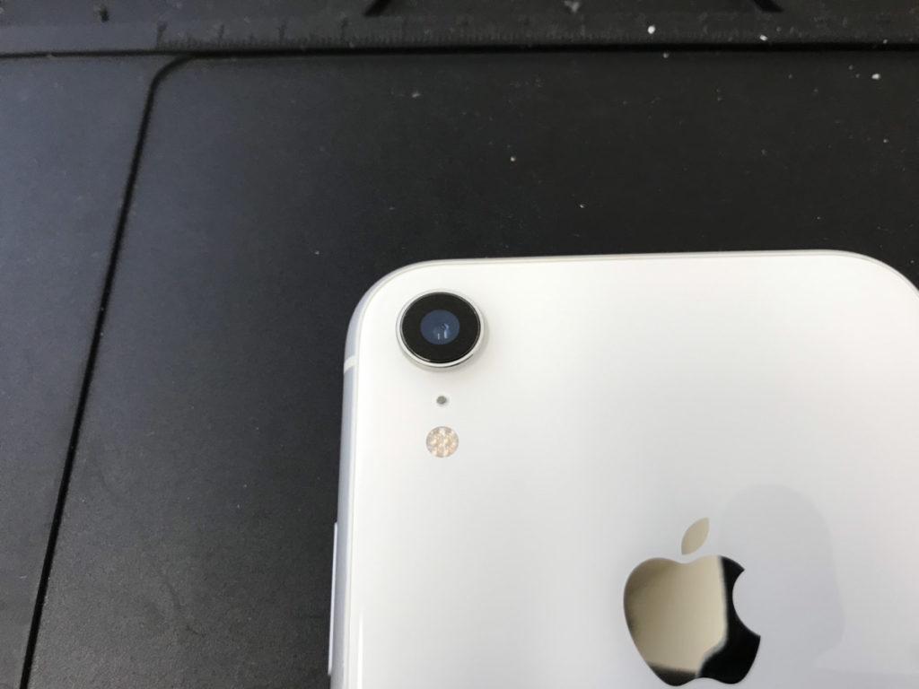 カメラレンズ修理後のiPhoneXR