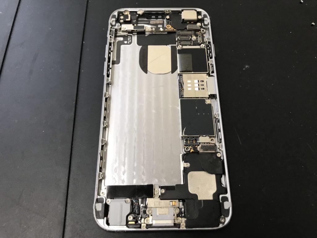 掃除後のiPhone6