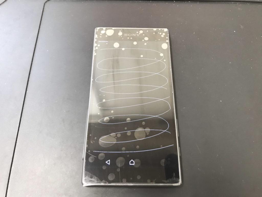 画面交換後のXPERIA Z5Compact