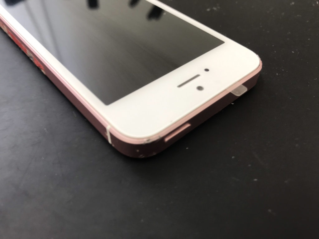 画面修理後のiPhoneSE