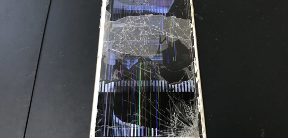 液晶が壊れたiPhone6Plus