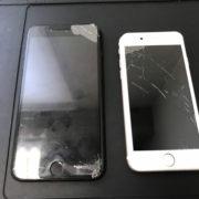 画面修理前のiPhone7PlusとiPhone7