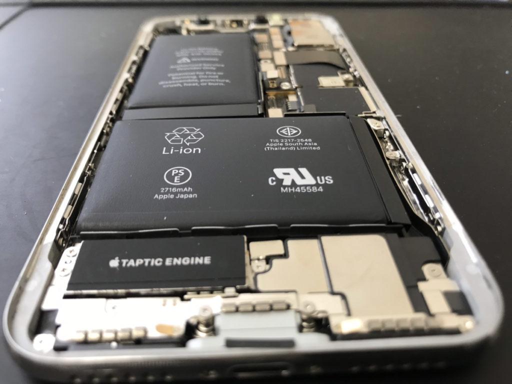 分解時のiPhoneX