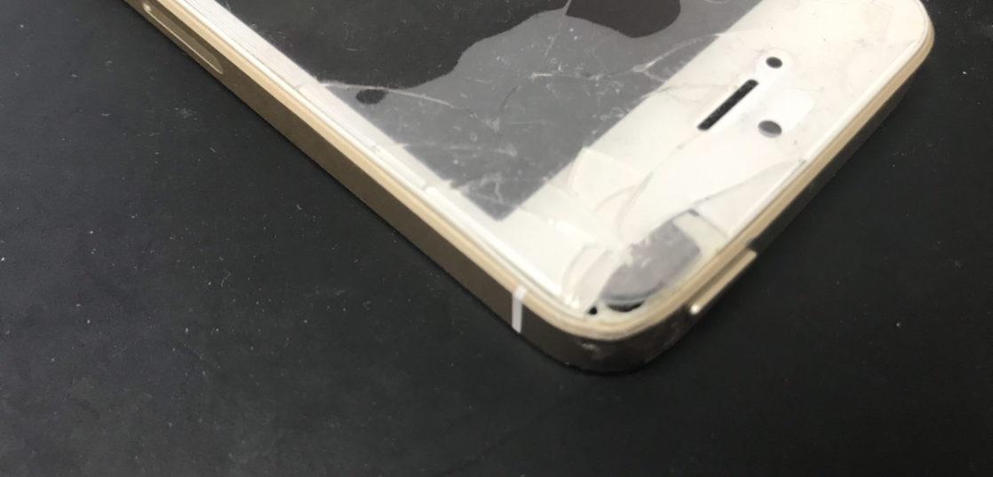 画面修理前のiPhoneSE(初代)