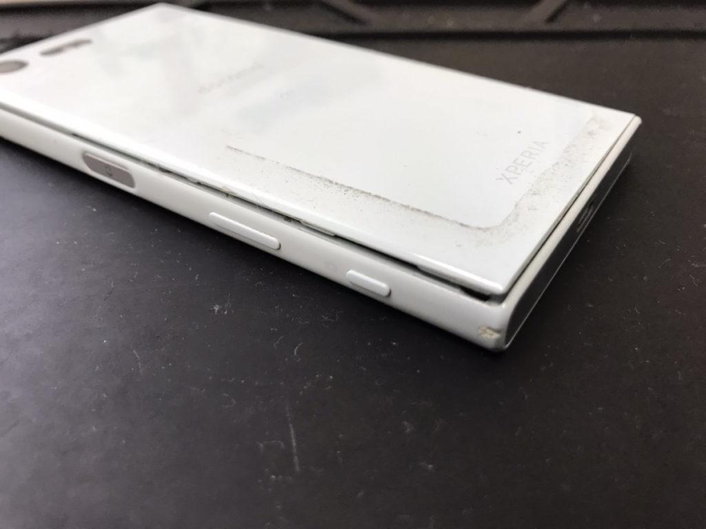 バッテリー交換前のXPERIA X Compact