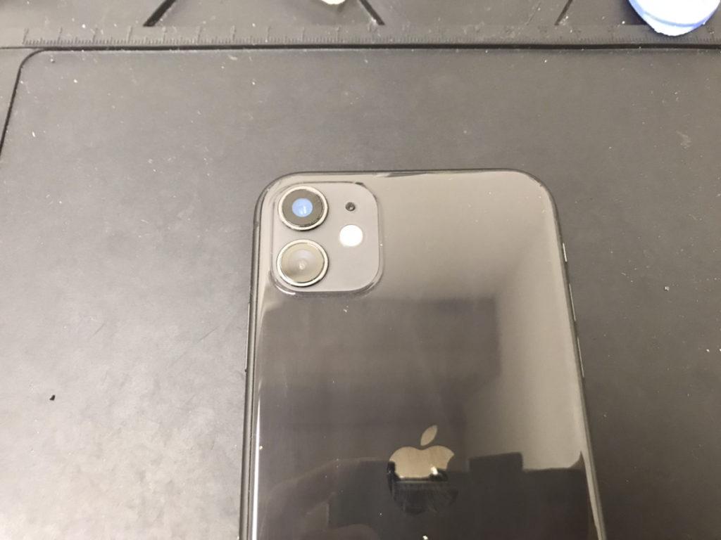 カメラレンズ修理後のiPhone11