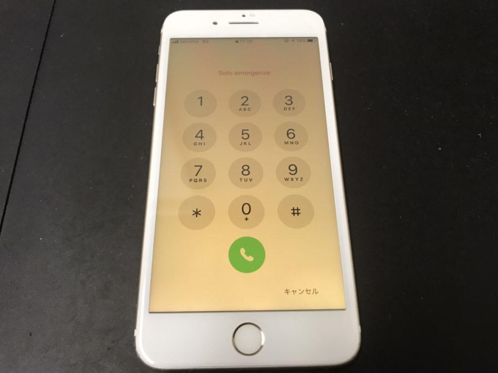 画面修理後のiPhone7Plus
