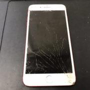画面修理前のiPhone7Plus