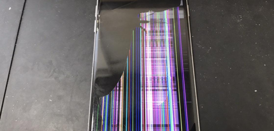 液晶修理前のiPhone6s