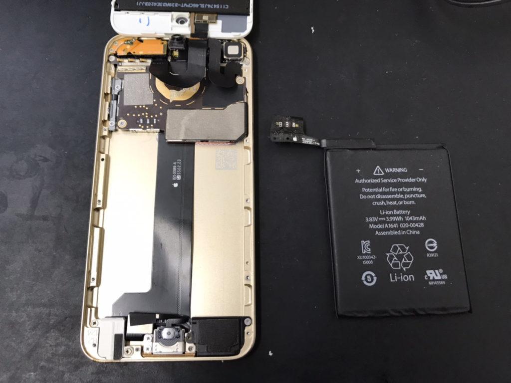 バッテリーを取り外したiPod Touch6