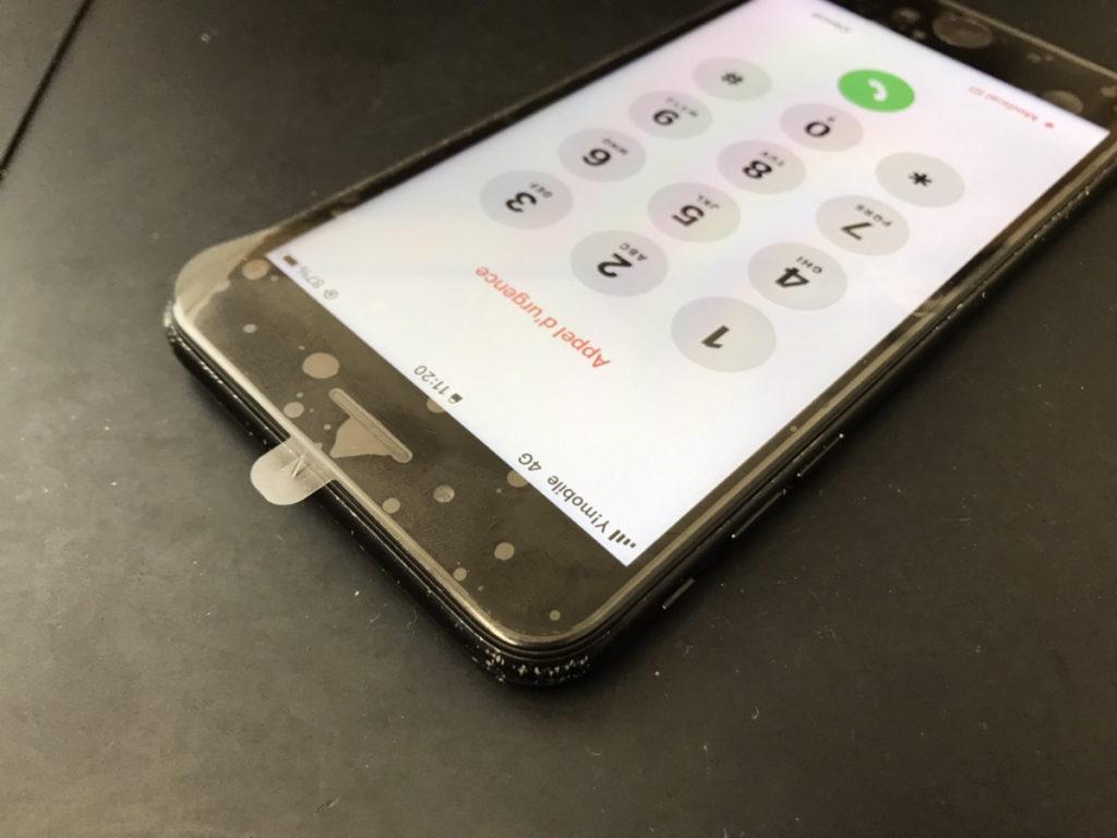 修理後のiPhone7Plus