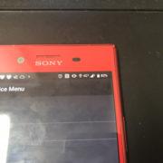 修理前のXperia XZ Premium