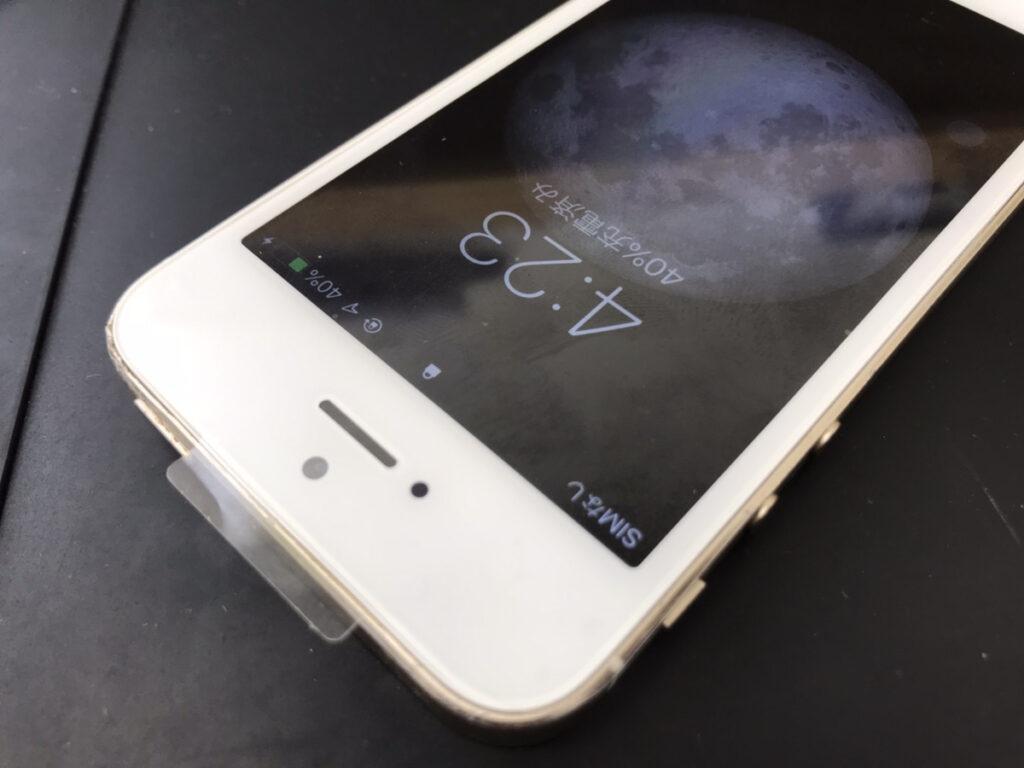 画面修理後のiPhone5s