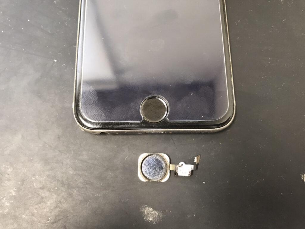 ホームボタン修理後のiPhone6