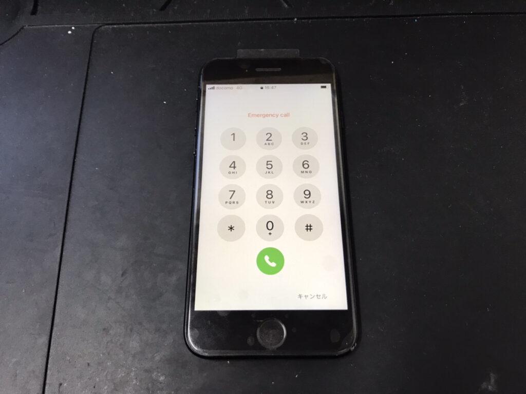 画面修理後のiPhoneSE2